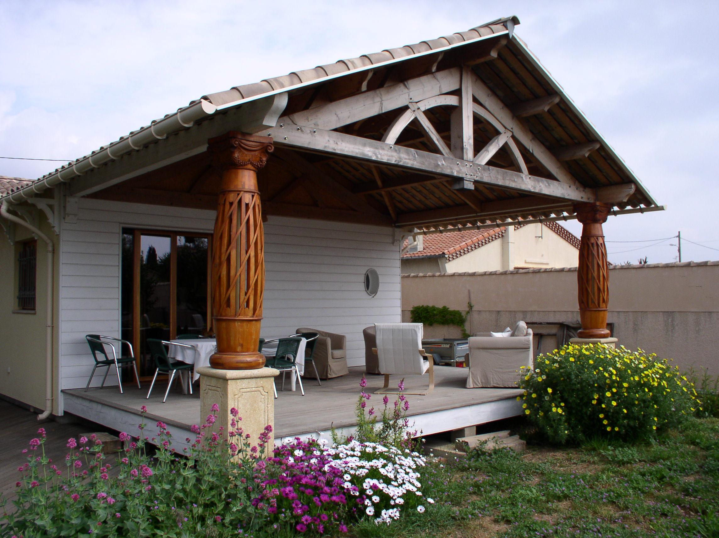 Terrasse Fermée En Bois maison à ossature bois   espaces systèmes bois